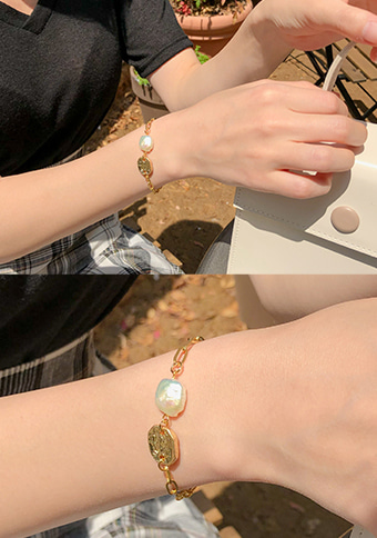Gold Embraces The Sea Bracelet