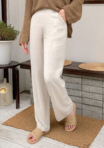 [CHUU] Linen Wide Pants