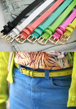 Classic Thin Colored Belt