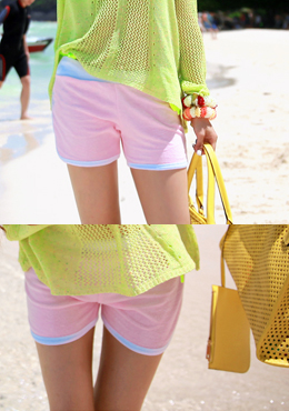 Candy Colored Stitched Shorts