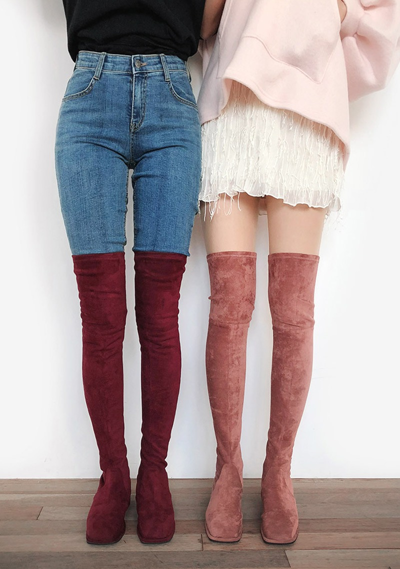 Tied Over The Knee Perfect Photoshop Boots 18 Fw by Chuu