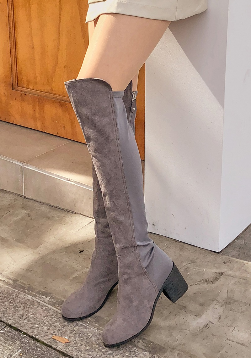 Two Different Knee High Boot by Chuu