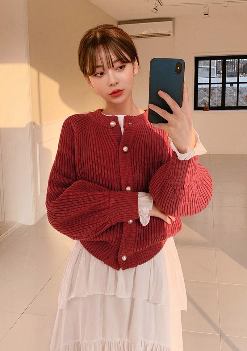 sweet-waffle-knit-cardigan by chuu