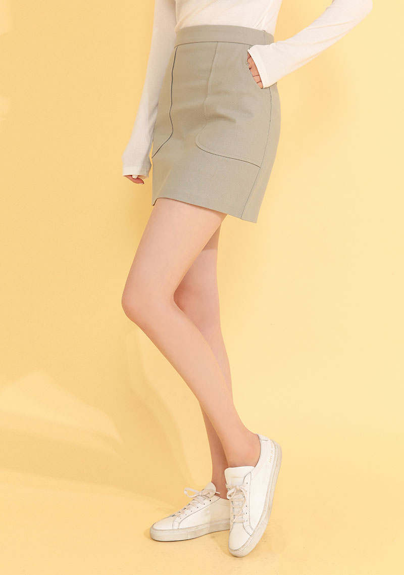 Modern Pocket Cotton Skirt by Chuu