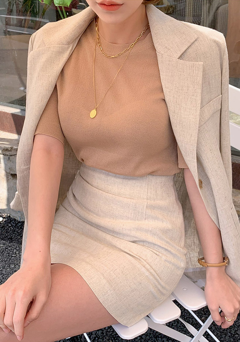 natural-basic-linen-skirt by chuu