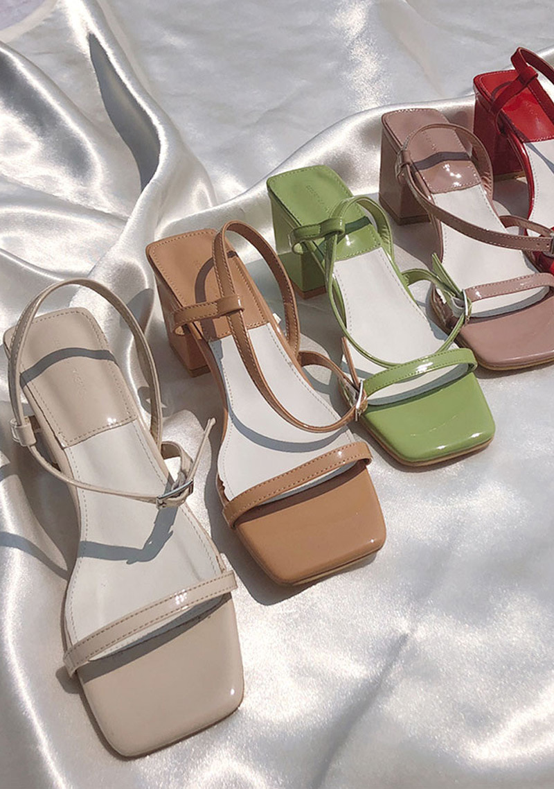 square-buckle-strap-sandals-6cm by chuu