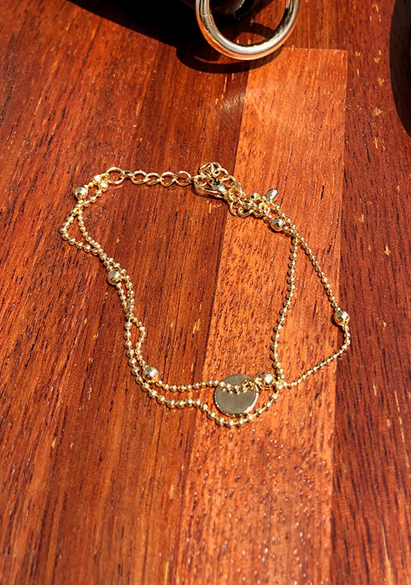 Simply Gold Double Chain Bracelet by Chuu