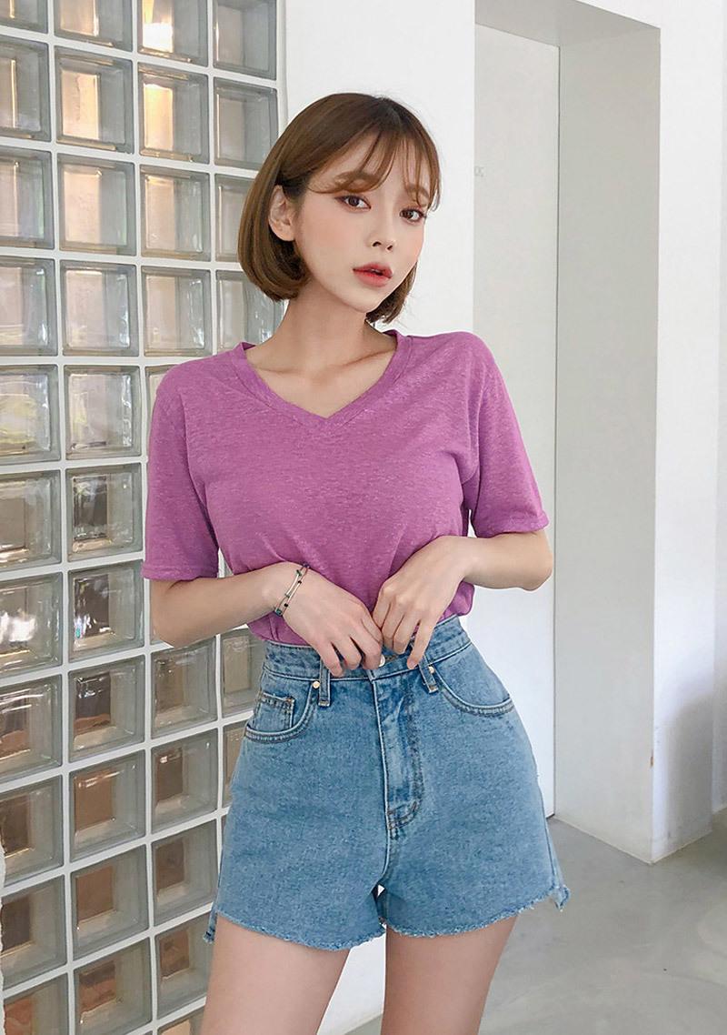 vintage-cutting-denim-shorts by chuu