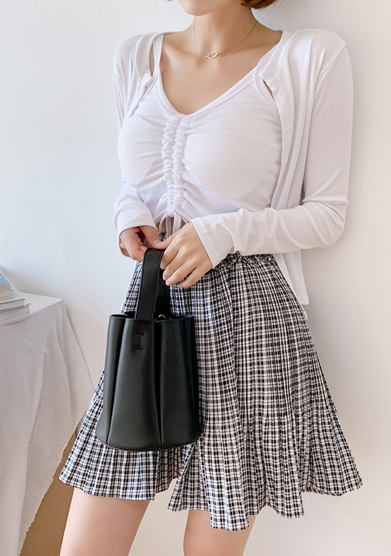 cutie-the-pooh-check-skirt by chuu