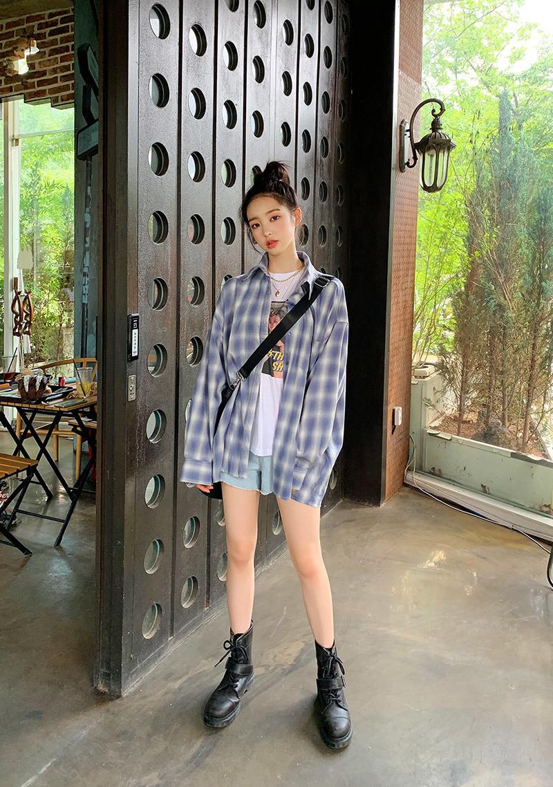 gradient-check-shirt by chuu