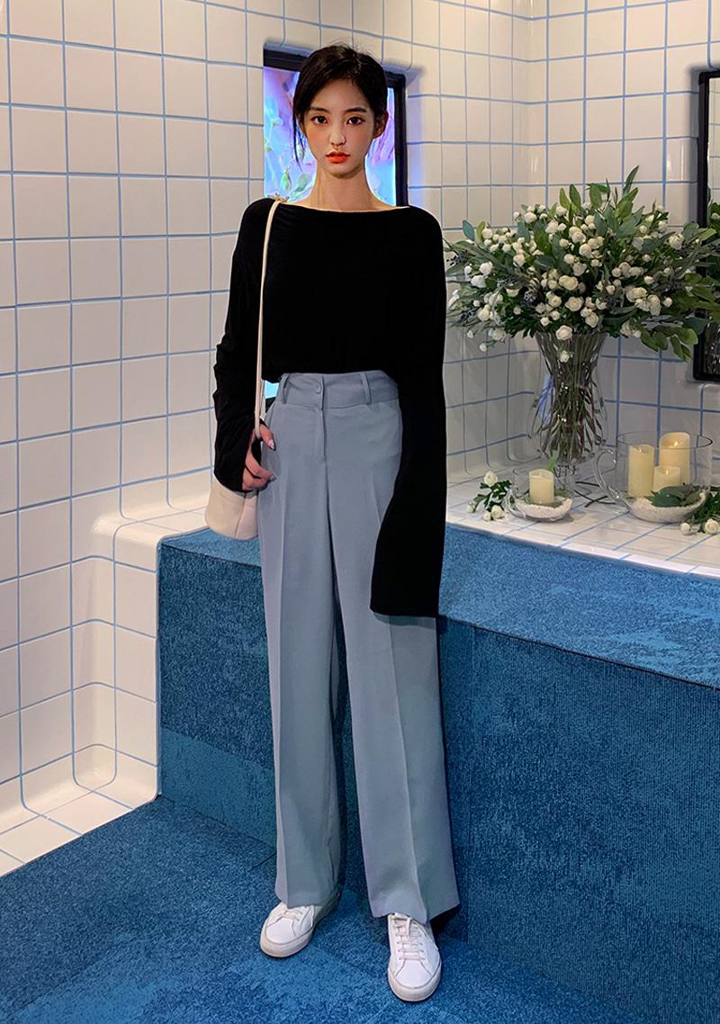 real-fit-long-slack-pants by chuu