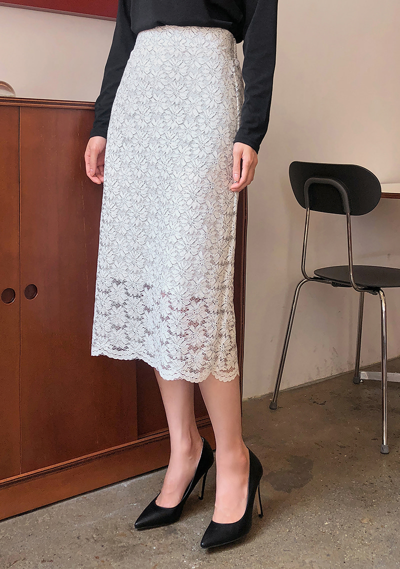glamorous-color-lace-skirt by chuu