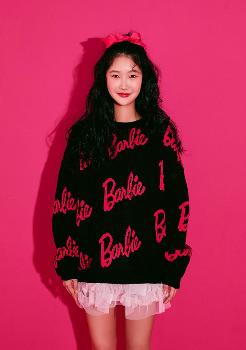 Barbie Room. Lettering Jacquard Knit by Chuu
